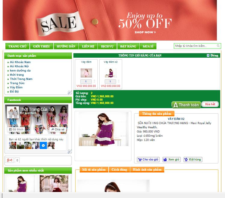 Template bán hàng Blogspot miễn phí 02