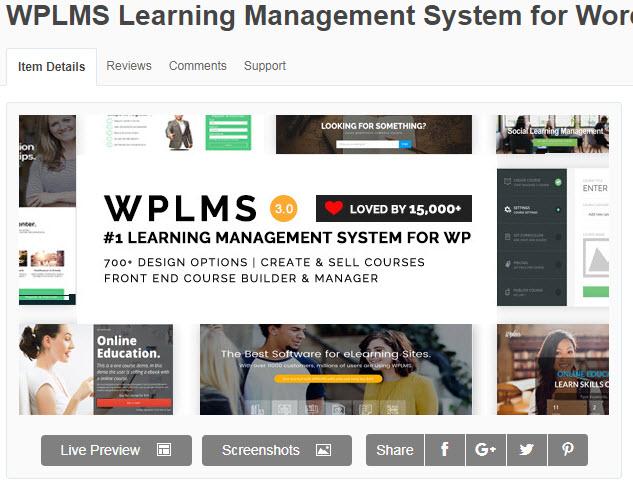 theme wordpress học trực tuyến WPLMS Learning