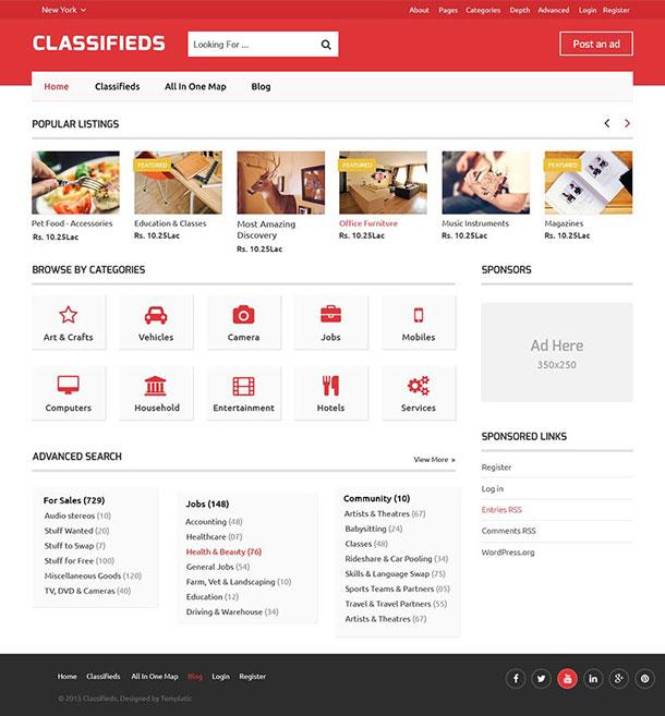 theme wordpress rao vặt Classifieds