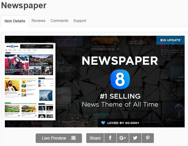 theme wordpress tin tức newspaper