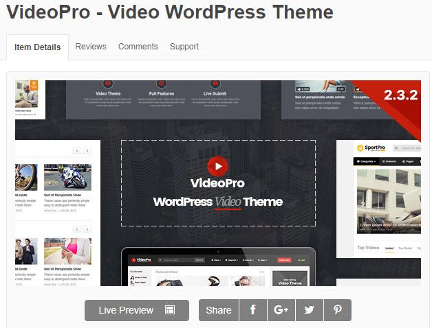 theme video cho wordpress